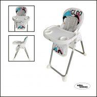 Mama Kiddies ProComfort NewLine fehér pingvin mintás multifunkciós etetőszék + Ajándék