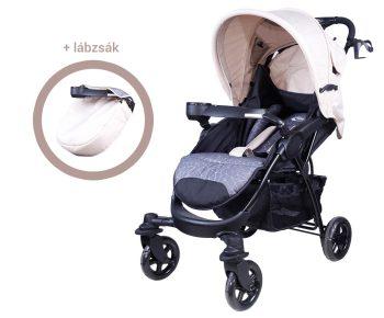 Mama Kiddies Light4 Go Sport babakocsi OLD bézs színben + Lábzsák + Ajándék