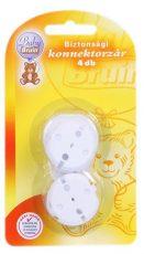 4 db Baby Bruin Biztonsági konnektorvédő, konnektorzár