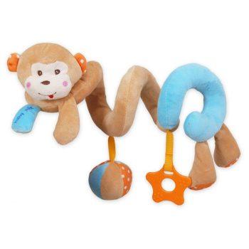 Majmos spirál fejlesztő játék babakocsira / babahordozóra