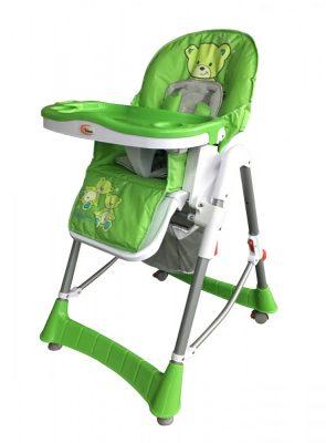 Mama Kiddies ProComfort zöld maci mintás multifunkciós etetőszék + Ajándék