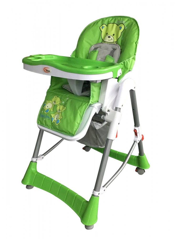 MamaKiddies ProComfort zöld maci mintás multifunkciós etetőszék + Ajándék 614be044f1