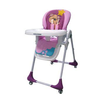 Mama Kiddies Ariel fehér-rózsaszín multifunkciós etetőszék