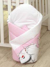 MamaKiddies Baby Bear pólya pink színben jegesmaci mintával