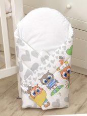 MamaKiddies Baby Bear pólya szürke-fehér színben bagoly mintával 9109f86f66