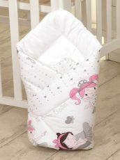 MamaKiddies Baby Bear kókuszpólya fehér színben balett mintával