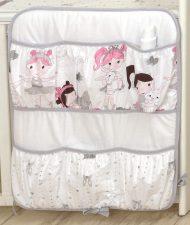 MamaKiddies Baby Bear zsebes tároló fehér színben balett mintával