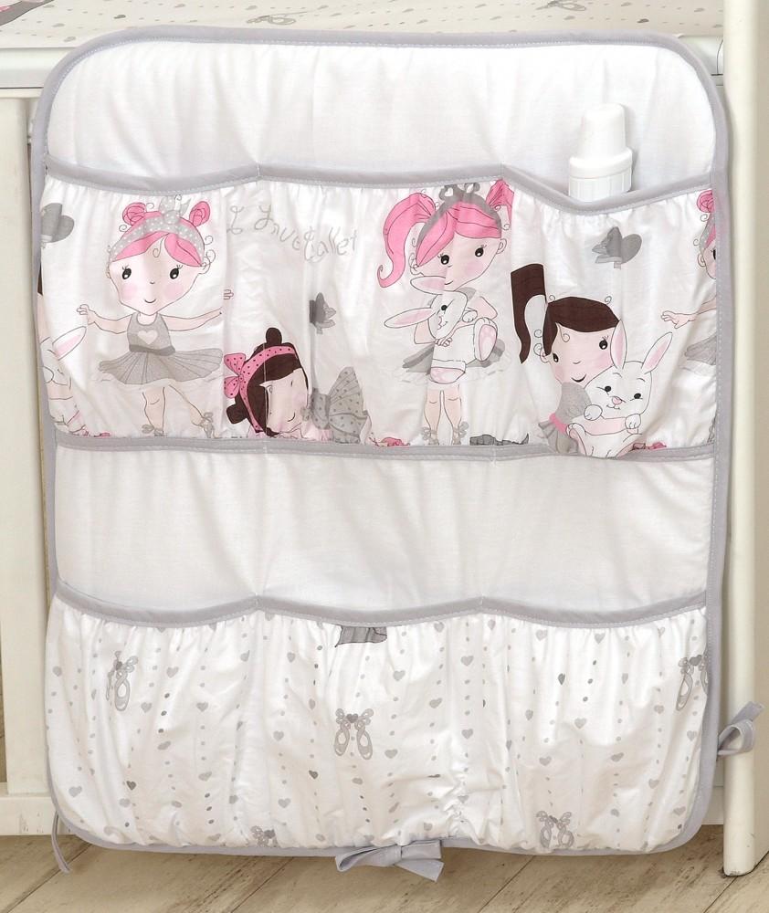 MamaKiddies Baby Bear zsebes tároló fehér színben balett mintával ... 0fa8c1bee9