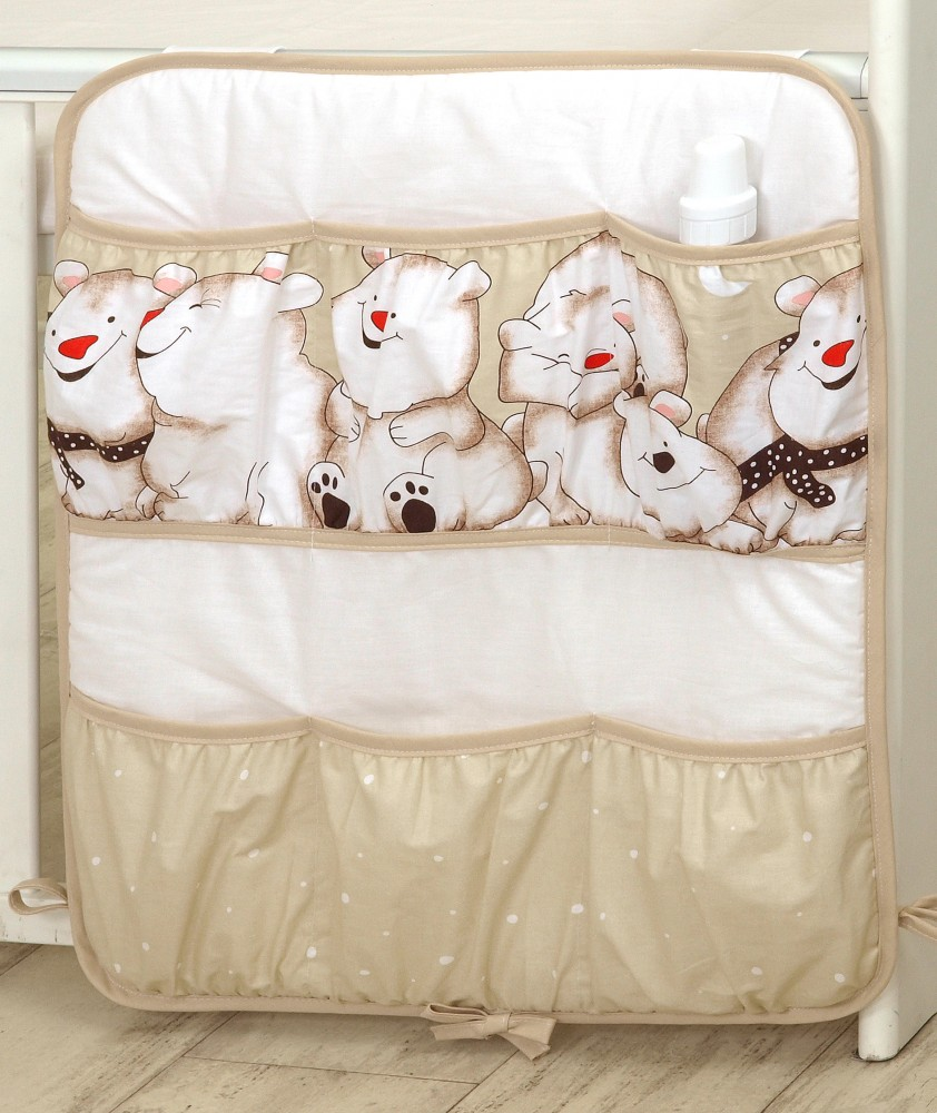 MamaKiddies Baby Bear zsebes tároló világosbarna színben jegesmaci mintával 91072b0d90