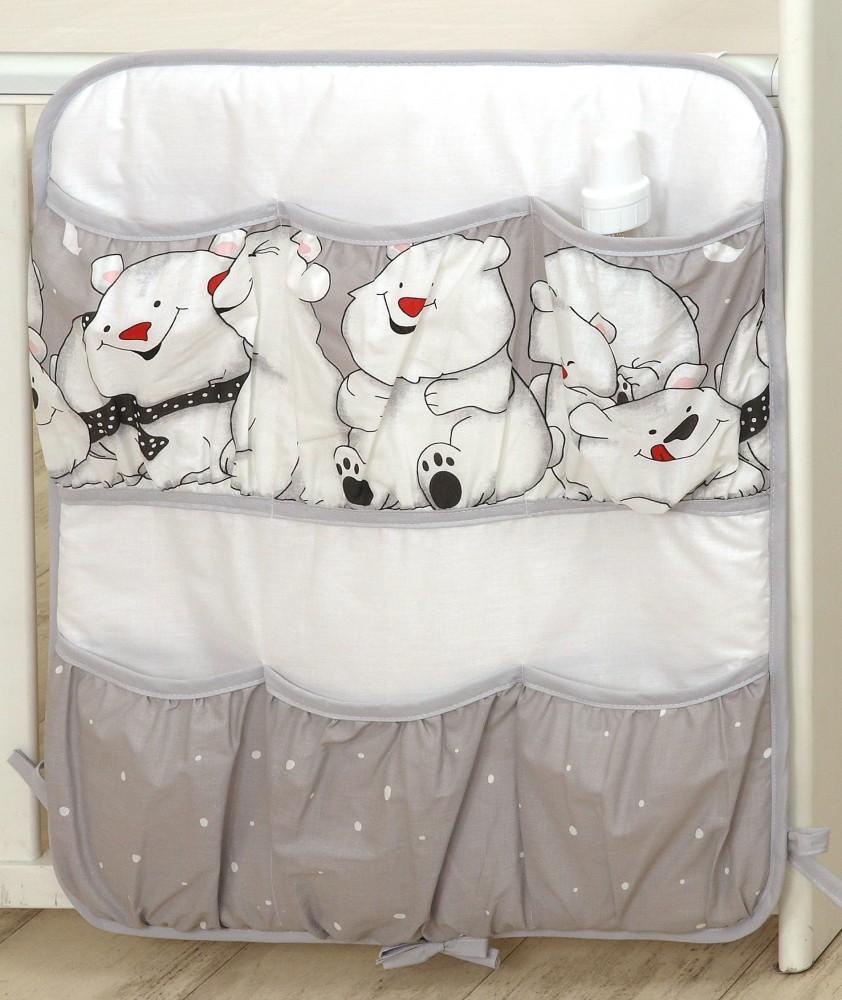 MamaKiddies Baby Bear zsebes tároló szürke színben jegesmaci mintával 87fe54eb26