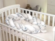 Fonott rácsvédő és babafészek 2az1-ben - virágos, 240 cm (Baby Bear kollekció)