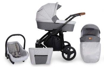 Mama Kiddies Titan 3az1-ben multifunkciós babakocsi Silver színben + ajándék