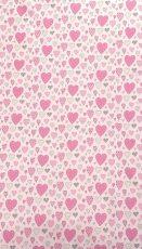 MamaKiddies Baby Bear 2 részes ágyneműhuzat szivecskés mintával pink színben