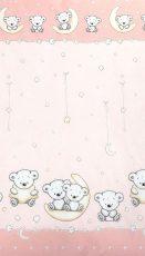 Mama Kiddies Baby Bear 2 részes ovis ágyneműhuzat macis mintával pink színben