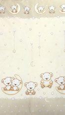 MamaKiddies Baby Bear 2 részes ágyneműhuzat macis mintával bézs színben