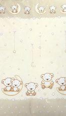 Mama Kiddies Baby Bear 2 részes ovis ágyneműhuzat macis mintával bézs színben