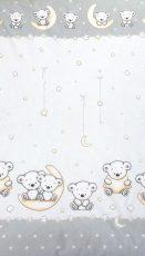 MamaKiddies Baby Bear 2 részes ágyneműhuzat macis mintával szürke színben