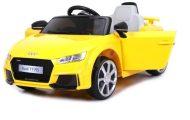 KIÁRUSÍTÁS - Audi TT RS Roadster elektromos autó távirányítóval sárga színben (dupla motor és akkumulátor)