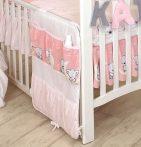 MamaKiddies Baby Bear zsebes tároló rózsaszín macis mintával