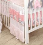 Mama Kiddies Baby Bear zsebes tároló rózsaszín macis mintával
