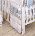 MamaKiddies Baby Bear zsebes tároló szürke macis mintával