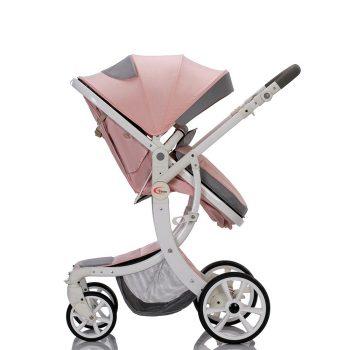 MamaKiddies Sun Pink: rózsaszín 2az1-ben babakocsi kiegészítőkkel
