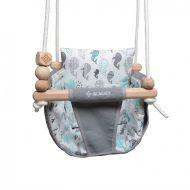 Incababy Junior hinta szürke-fehér színben bálnás mintával