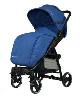Mama Kiddies Aqua sport babakocsi kék színben ajándék lábzsákkal és esővédővel