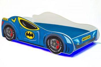 Mama Kiddies 160x80-as gyerekágy Batcar dizájnnal és matraccal