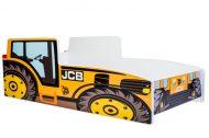 MamaKiddies 140x70-as gyerekágy traktor dizájnnal - JCB mintával - matraccal