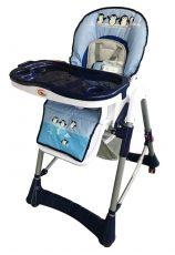 MamaKiddies ProComfort kék pingvin mintás multifunkciós etetőszék + Ajándék