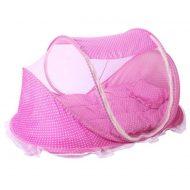 MamaKiddies utazó babaágy pink színben