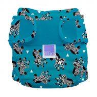 BambinoMio MioSoft mosható pelenka külső zebra crossing mintával