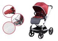 Mama Kiddies ISmart sport babakocsi kiegészítőkkel piros színben + ajándék lábzsák