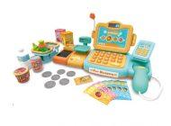 MamaKiddies 24 részes full extrás játék pénztárgép rengeteg extrával narancs-türkíz színben
