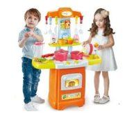 30 részes Mama Kiddies HomeChef babakonyha szett narancs színben