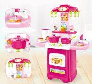 30 részes Mama Kiddies HomeChef babakonyha szett pink színben