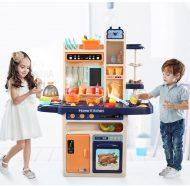 65 részes Mama Kiddies KitchenKing babakonyha szett kék-narancs színben