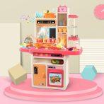 65 részes MamaKiddies KitchenKing babakonyha szett pink-narancs színben