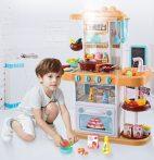 43 részes Mama Kiddies KitchenStar babakonyha szett narancs színben