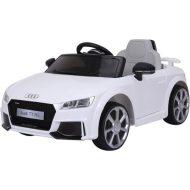 Black November - Audi TT RS Roadster elektromos autó távirányítóval fehér színben (dupla motor és akkumulátor)