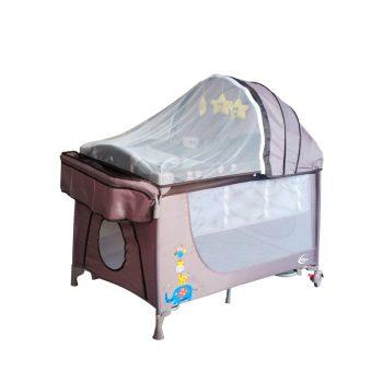 Mama Kiddies VIP barna (emelhető magasságú és ringatható) Utazóágy + Szúnyogháló + Ajándék
