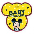 Baby on board jelzés - Mickey
