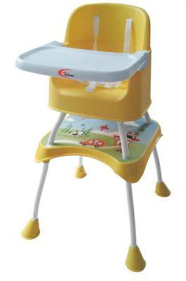 Mama Kiddies 2in1 Play etetőszék - sárga színben