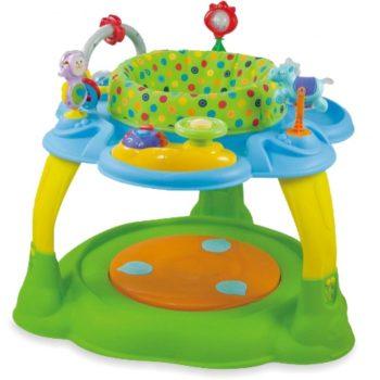 Baby Mix 2az1-ben játszóasztal zöld-kék színben