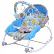 Baby Mix hordozható rezgő és zenélő hinta kék színben - elefánt