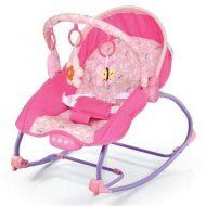 Baby Mix hordozható rezgő és zenélő pihenőszék pink színben