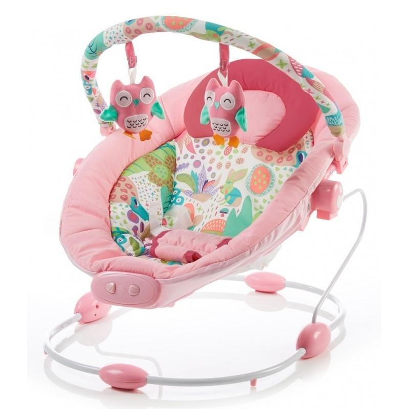 Baby Mix rezgős pihenőszék - halvány rózsaszín - Babakocsi ... fe9b7e5b19