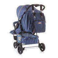 Chipolino babakocsira rögzíthető hátizsák - Indigo Jeans színben