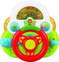 Baby Mix készségfejlesztő kormánykerék (piros, fehér, zöld színben)